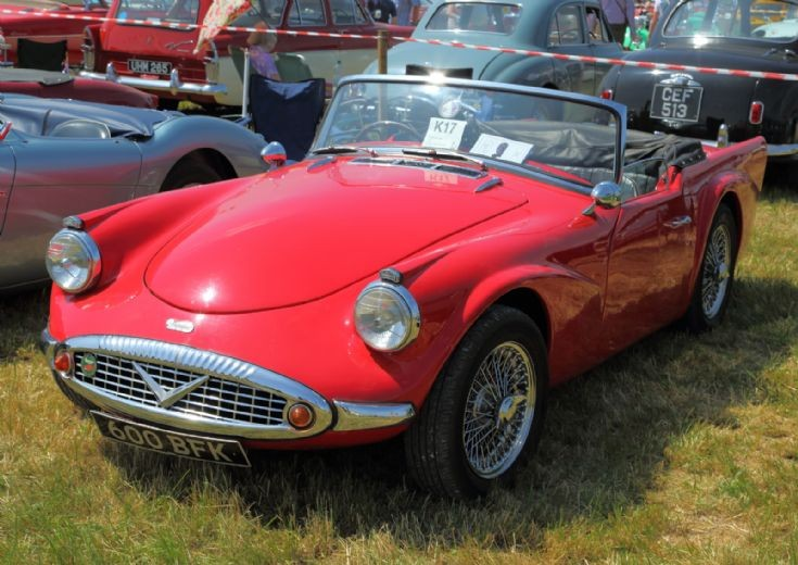 1960 Daimler Dat SP250 at Woodcote Steam Rally