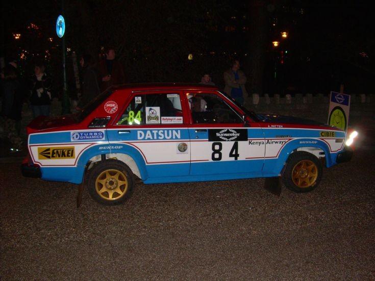 Datsun Violet rallycar