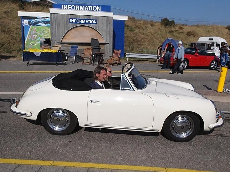White old convertible Porsche