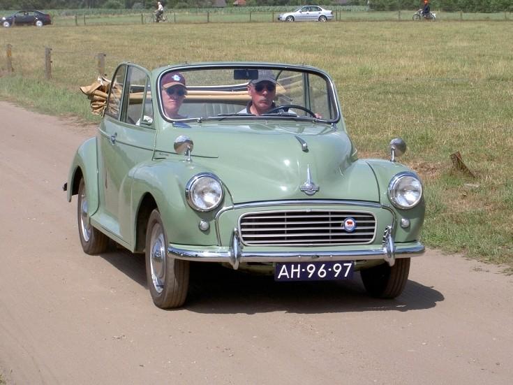 Classic Morris Minor convertible