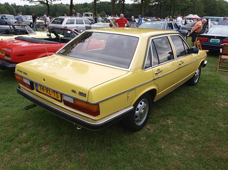 Yellow colored Audi 100GL 5/E (1980)
