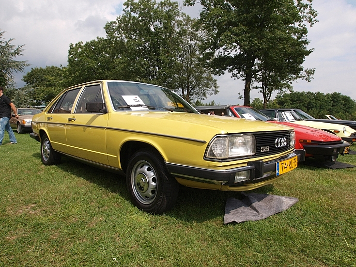 Yellow coloured Audi 100GL 5S (1980)