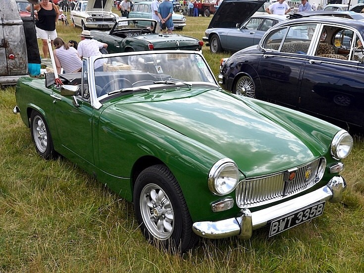 MG Midget at Vintage rally