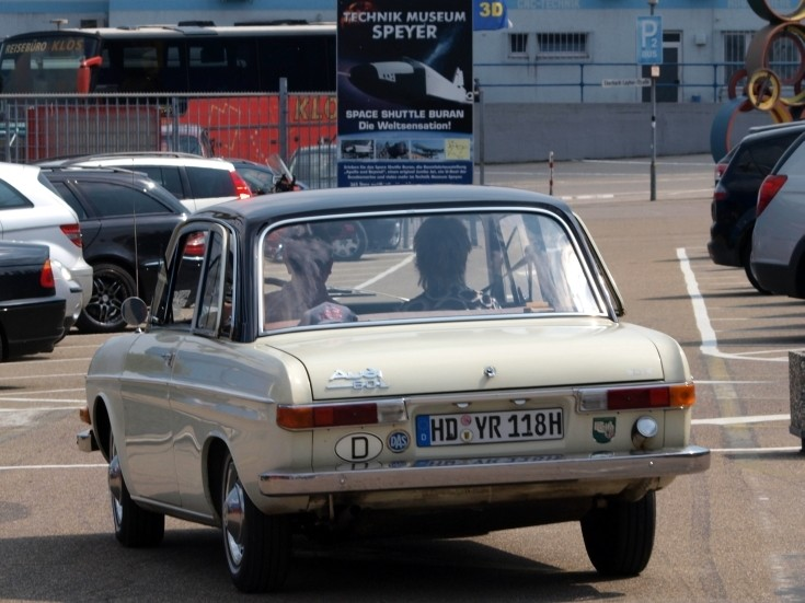 Audi 60 on the road