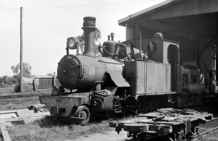exROD 4-6-0T at shed