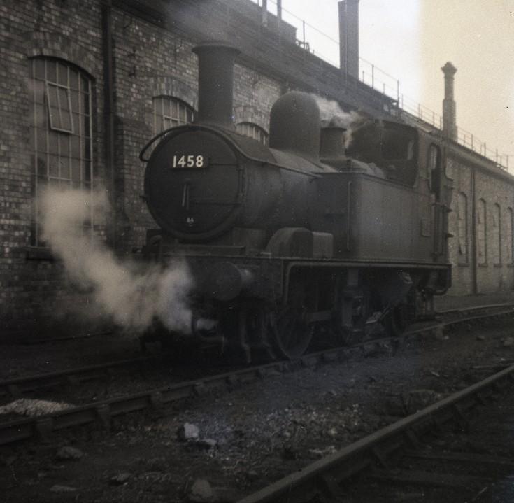 1458 on shed at Stourbridge shed