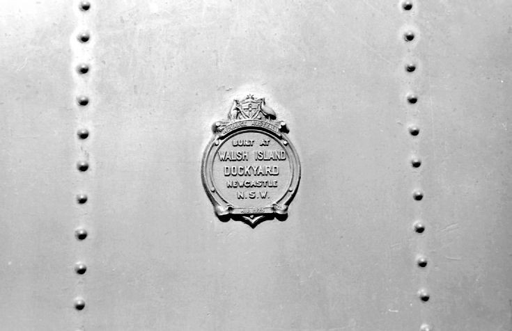 Walsh Island plate on tender of 3642