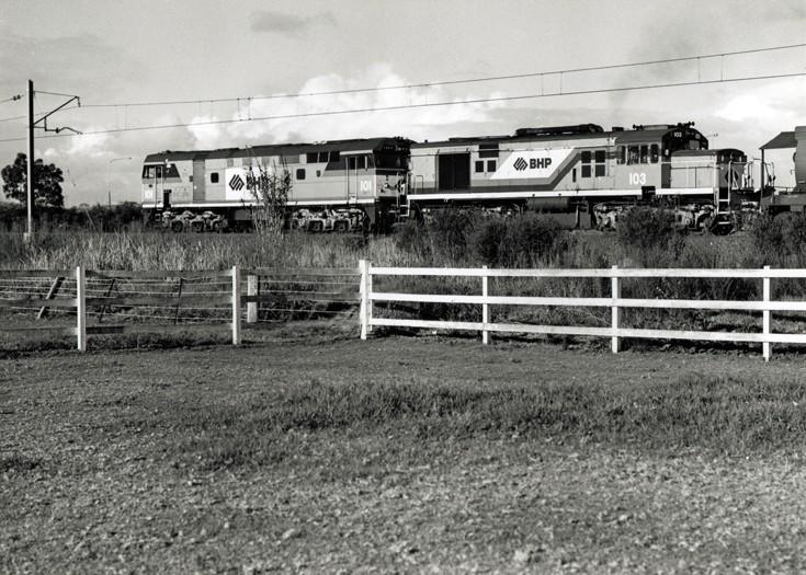 BHP leased diesel locomotives