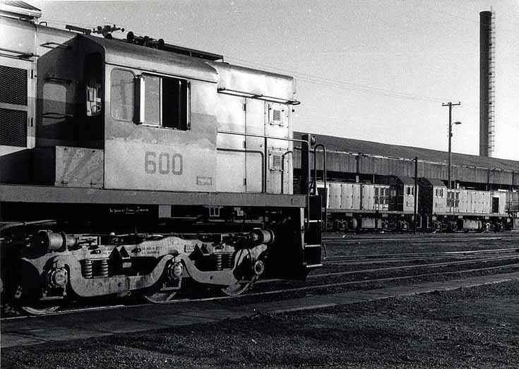 Locomotives at SRA depot