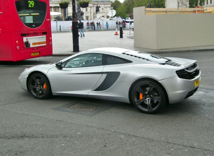 Silver McLaren Mp4-12c