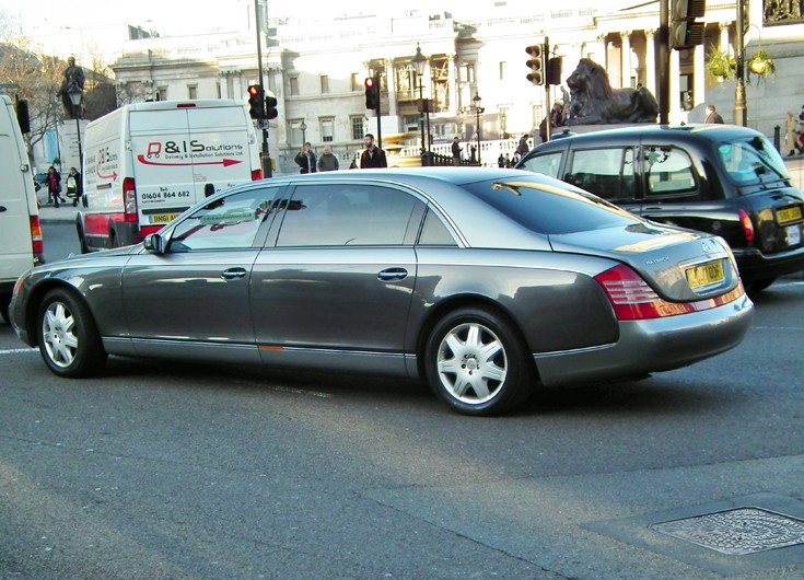 Maybach at Trafalgar Square