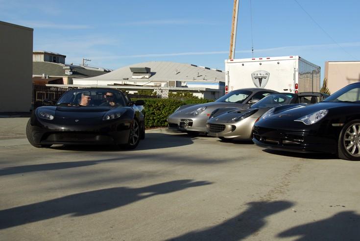 Tesla, Cayman, Elise and GT3