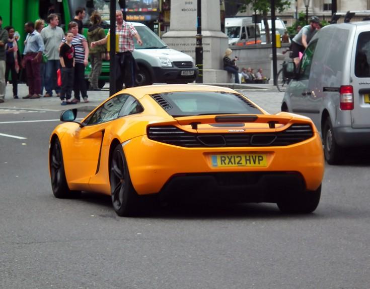 McLaren Mp4-12c rear view