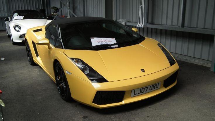 Lamborghini Gallardo Spider at Knockhill