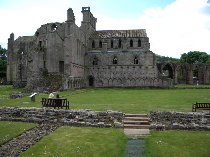 Ruins of the Abbey in Melrose