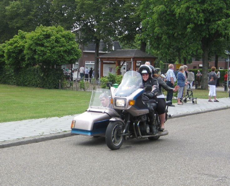 Picture of motor with side car at Bambi Event