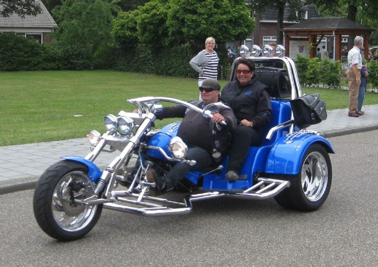 Big Blue trike at the Bambi Treffen