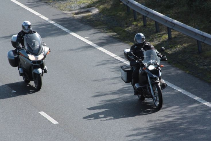A pair of BMWs