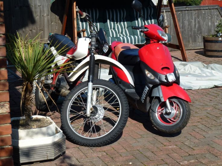 Honda offroader and Peace Sports 50