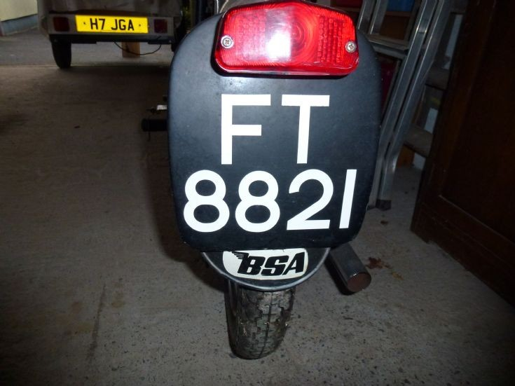 1950's BSA C10 number plate