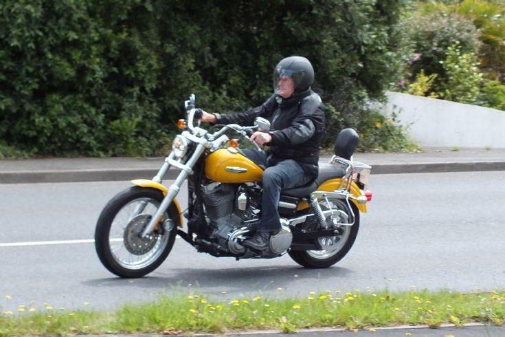 Unknown yellow motorbike