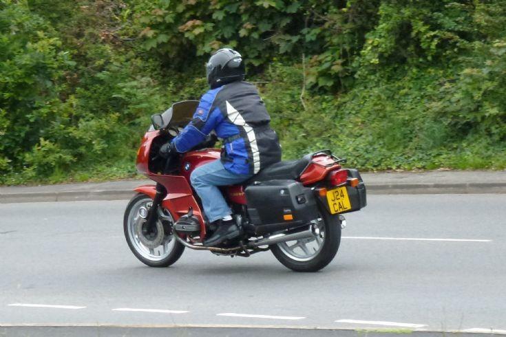 BMW touring motorbike