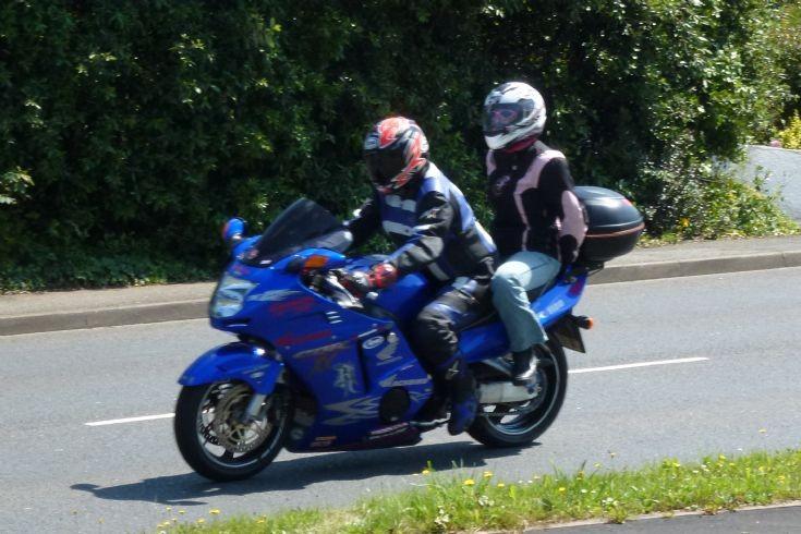 Honda 1000 on Devon Coast Run