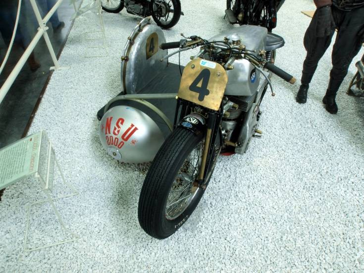 NSU with racing sidecar