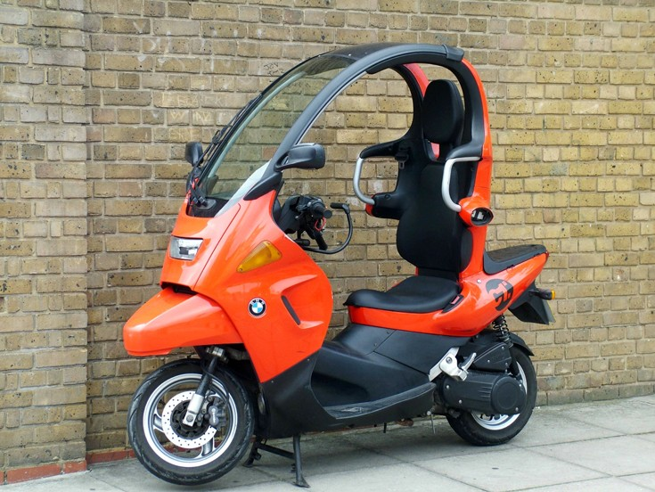 motorcycles motorbikes orange 2001 bmw c1 125 scooter. Black Bedroom Furniture Sets. Home Design Ideas