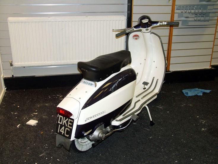 White Lambretta scooter