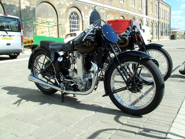 Classic AJS 7R at Woolwich