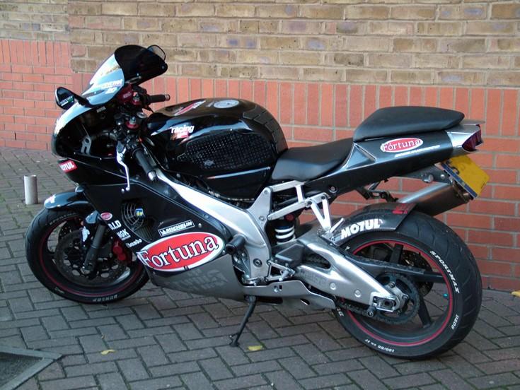 Aprilia sports motorbike