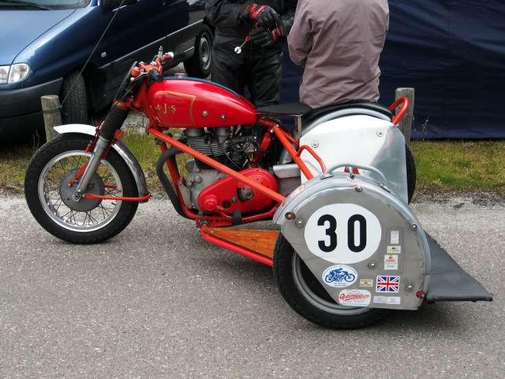 AJS sidecar racing