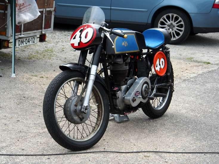 Classic AJS racing motorbike