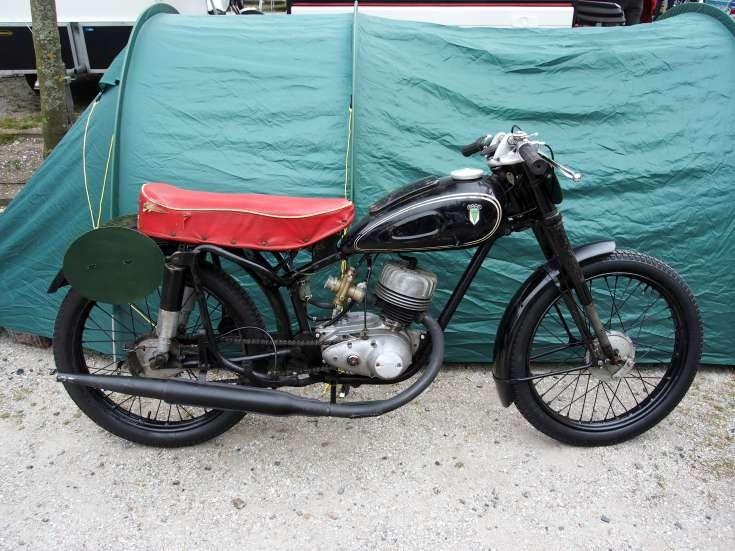 Old black DKW motorcycle