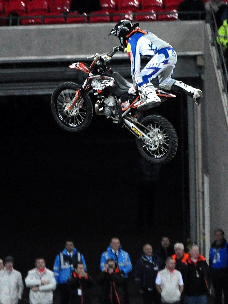 Flying bikes at Wembley