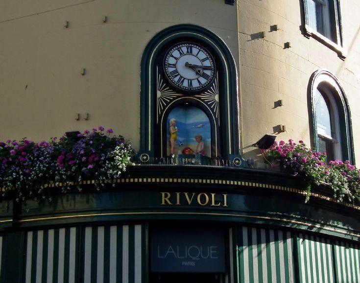 Rivoli revolving clock