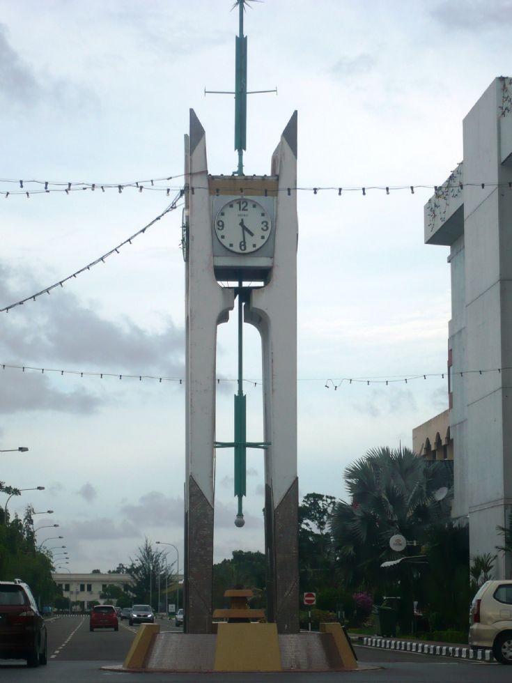 Belait Town clock roundabout