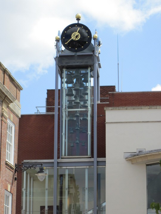 Clock of South Holland Centre in Spalding