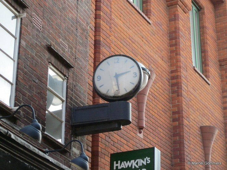 Shop clock in Norwich