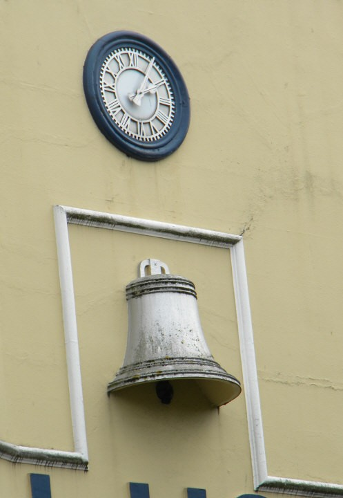 Wall clock and wall bell
