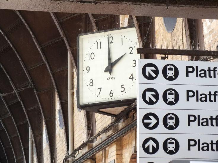 One of York station's many clocks