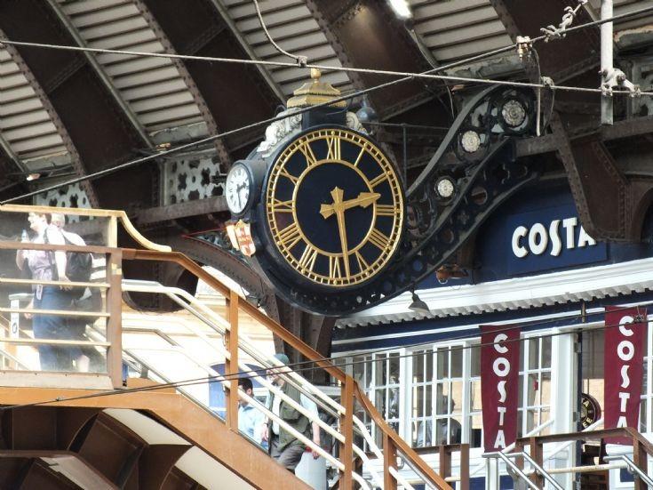 York station's main clock