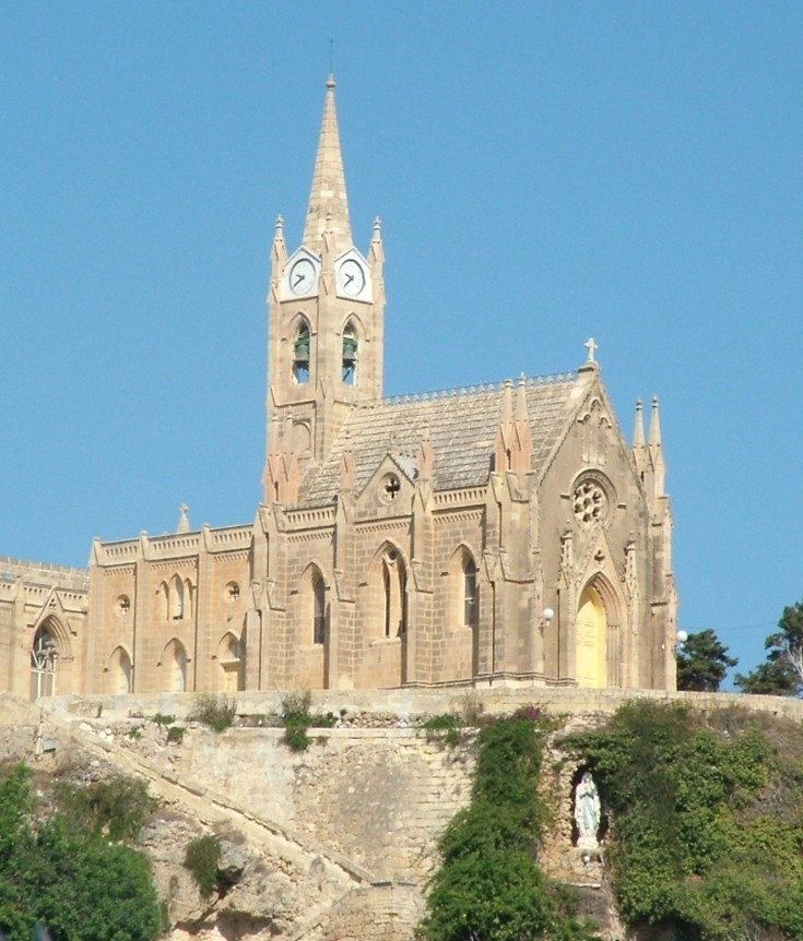 Gozo Church with 4 face clock
