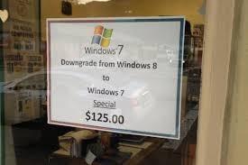 Windows 8 Downgrade