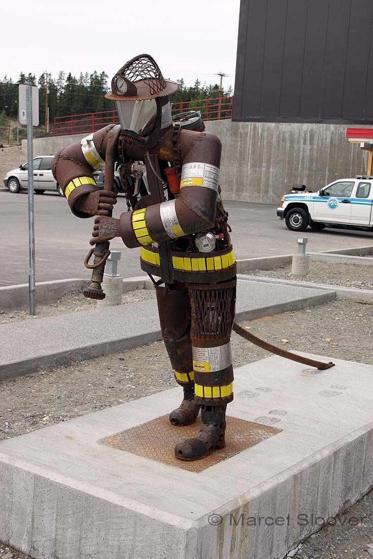 Fire fighter Sculpture