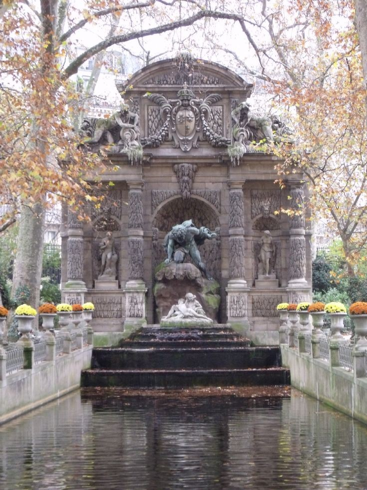 Statue and water.