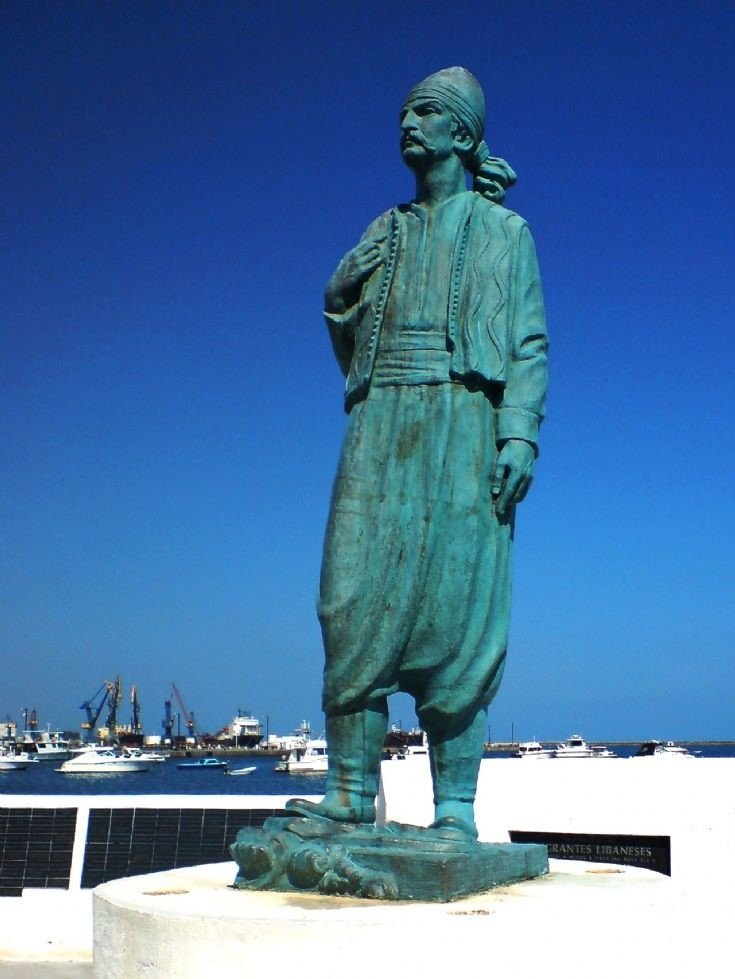 Statue to the Lebanese immigrant