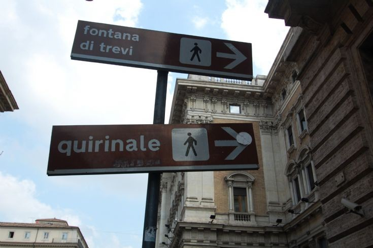 Orientation signs in Rome