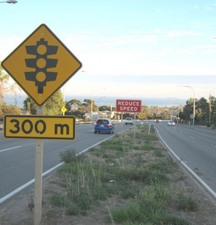 Traffic lights 300 Metres